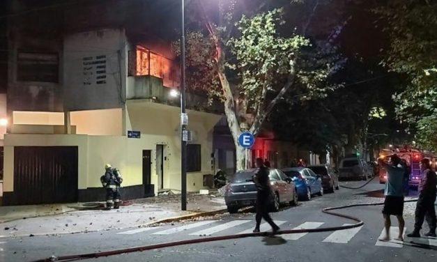 Incendio en Villa Ortúzar en medio de la cuarentena