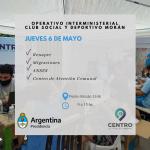 Agronomía: operativo interministerial en el Club Social y Deportivo Morán