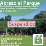 Suspendieron el Abrazo al Parque Isla de La Paternal