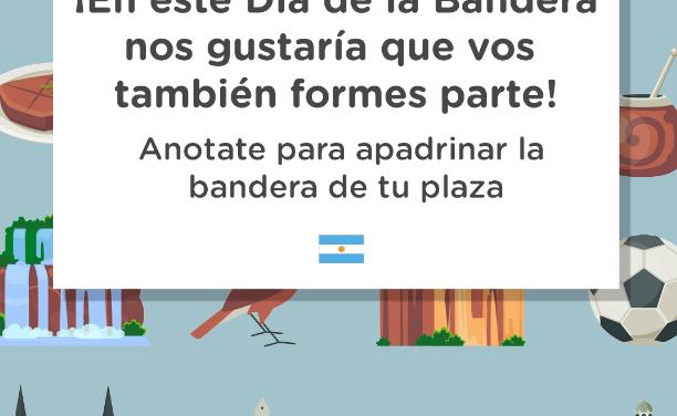 Convocatoria Padrinazgo de Bandera Argentina en la Comuna 15