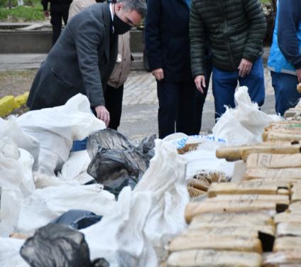 La Policía de la Ciudad quemó otros 2.900 kilos de marihuana y en el año ya destruyó más de 7.900 kilos de droga
