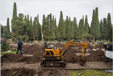 Coronavirus: liberan tumbas en el cementerio de la Chacarita para una eventual demanda de espacio