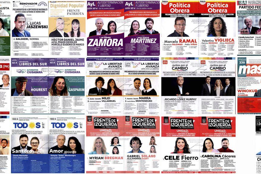 Boletas en CABA: cuáles son los candidatos y listas que compiten en las PASO de las Elecciones 2021