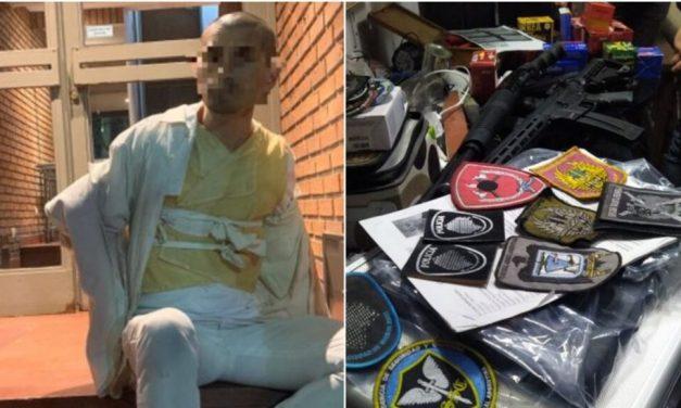 Paciente psiquiátrico de 44 años hacía videos en un departamento de Chacarita que era un arsenal